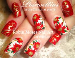 Pretty Christmas Flower Nails | DIY Red Poinsettia Nail Art Design ...