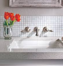 white bath mosaic