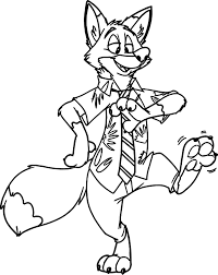 Small Picture Nick Wilde Zootopia Coloring Pages Wecoloringpage