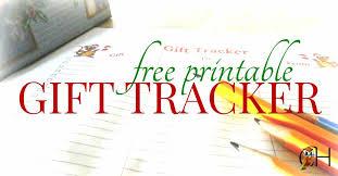 Gift Tracker Free Christmas Gift Tracker Printable Classically Homeschooling