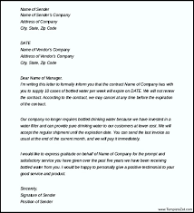 Letter To Terminate Contract With Supplier Termination Of Services Letter To Vendor
