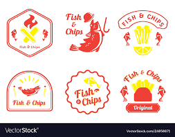 Fish And Chips Design Fish And Chips Retro Badge Design