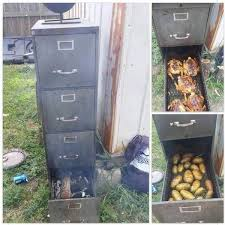 here is how to turn an old file cabinet into an awesome outdoor smoker awesomejelly