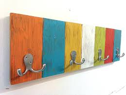 kids wall hook decorative hooks for awesome handmade coat rack with vibrant fun colors perfect h