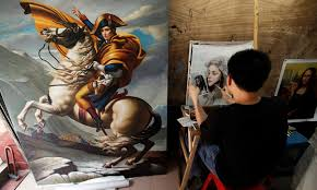 dafen oil painting village where thousands of artists recreate paintings for overseas daily mail