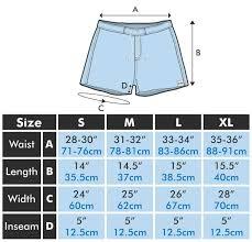 Size Chart Eubi Shorts