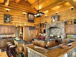 interior cabin kitchen ideas brilliant log house images kitchens stand alone intended for cabinets 2016 attractive