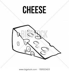 hand drawn piece of swiss cheese sketch style vector ilration isolated on white background