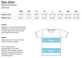 Gildan Shirt Size Chart Unisex Size Guide Simon And Martina Store Blog