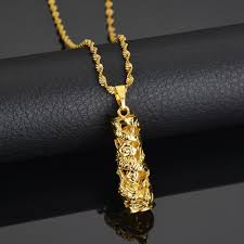 18k gold fine stereoscopic hollowed out chinese dragon pendant necklace