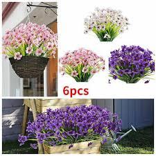 6 bundles artificial flowers outdoor