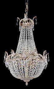 Diamant Crystal Kronleuchter Versailles Weiß Gold