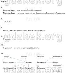ГДЗ Рабочая тетрадь для контрольных работ по литературному чтению  стр