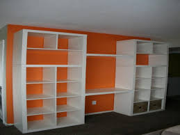 cheap office shelving. Cheap White Bookcases Appealing Walmart Bookshelves With Desk And Orange Wall Decor For Enchanting Office Shelving E