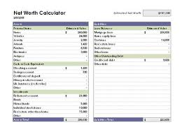 Business Net Worth Calculator Net Worth Calculator Templates For Data Entry Apply For
