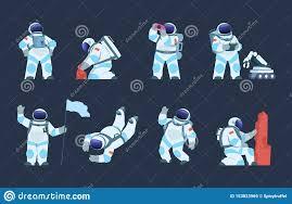 Astronaut Character Design Astronaut Character Cartoon Spaceman Design Cosmonaut In