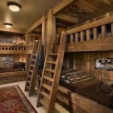 Wooden loft bunk beds 1