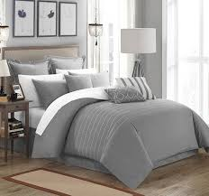 Amazon.com: Chic Home 9 Piece Brenton Super Rich Microfiber Stitch  Embroidered Comforter, Queen, Grey: Home & Kitchen