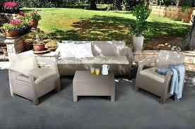 keter corfu 2 rattan sofa outdoor garden furniture keter corfu triple set