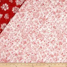 Red White Quilt | Fabric.com & Opposites Attract Double Sided Quilted Toile Red/White Fabric Adamdwight.com
