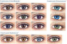 Freshlook Lenses Colors Chart Freshlook Colorblends Colored Contacts Are The Most Popular