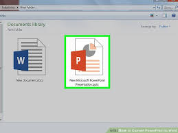 Ms Word Powerpoint How To Convert Powerpoint To Word With Pictures Wikihow