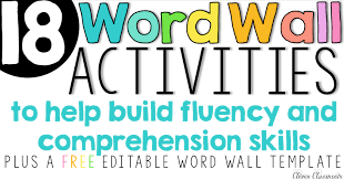 Activities Word Word Wall Activities To Help Fluency And Comprehension Clever