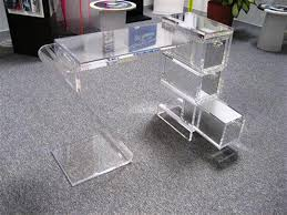 clear office desk. Clear Acrylic Office Desk