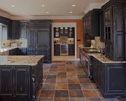 ... Cabinet, Black Rectangle Traditional Wood And Glass Distressed Kitchen  Cabinets Ideas: Great Distressed Kitchen