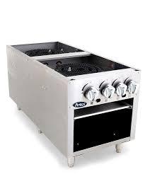 two burner gas countertop range commercial hotplate