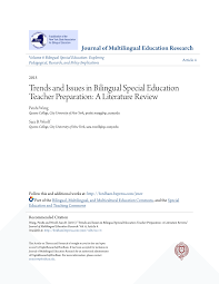 PDF Trends in bilingual special education teacher preparation: A literature  review.