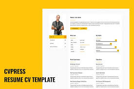CVPress - Resume CV Site Template - HTML/CSS