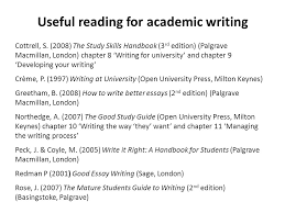 get ahead undergraduate summer programme ppt  useful reading for academic writing