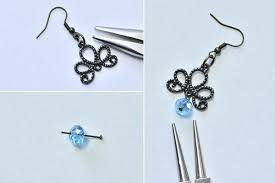 making a chandelier with beads make the basic part of the glass beads chandelier earrings diy