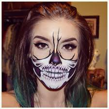 makeup inspo from chrisspy half skull makeup look i did this look using