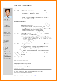Standard Resume Format Doc Cv Template Doc F4k407o1 Yralaska Com