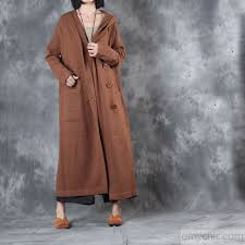 winter casaul long sleeve woolen sweater hooded coats plus size double t maxi winter outfits enlarge