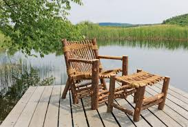 vermont cedar chair co uses entire tree in outdoor furniture