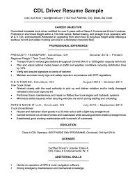truck driving resumes cdl driver resume sample writing tips resume companion