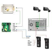 Wifi Video interkom kilit 7 inç kablosuz akıllı Video kapı zili 160 ° kapı  zili kamera görüntülü kapı telefonu erişim kontrolü sistemi Video Interkom