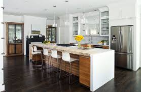 white cabinet contemporary kitchen with large island and stacker bar stool seating