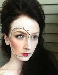 skeleton makeup half face makeup look 1