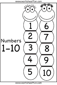 Number Chart 1 10 Number Chart Printable Worksheets Free
