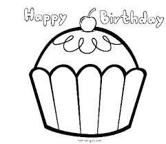 Birthday Coloring Pages Printable Free Happy Birthday Coloring Pages