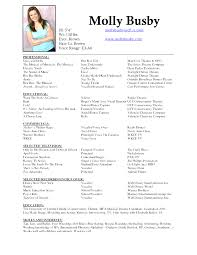 Musical Theater Resume Sample Best Of Fancy Musical Theatre Audition Resume Template Picture Collection