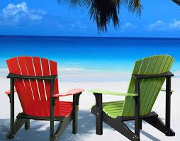 adirondack chairs on beach. Unique Chairs Gorgeous Adirondack Chairs On Beach With Luxcraft Poly Deluxe  Chair Swingsets To A