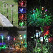 Amazon Yard Lights Amazon Com Rocktric Solar Led Landscape Lights For Outdoor