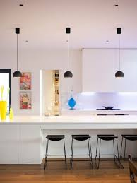 Trendy kitchen photo in Melbourne with an island