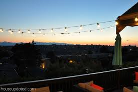 How To Hang Outdoor String Lights Delectable DIY Posts For Hanging Outdoor String Lights House Updated