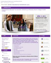 workflow update fl macaulay at hunter hunter hub mychoice page for macaulay honors college at hunter admitted students